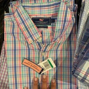 Nwt Vineyard Vines Slim Fit wale shirt L